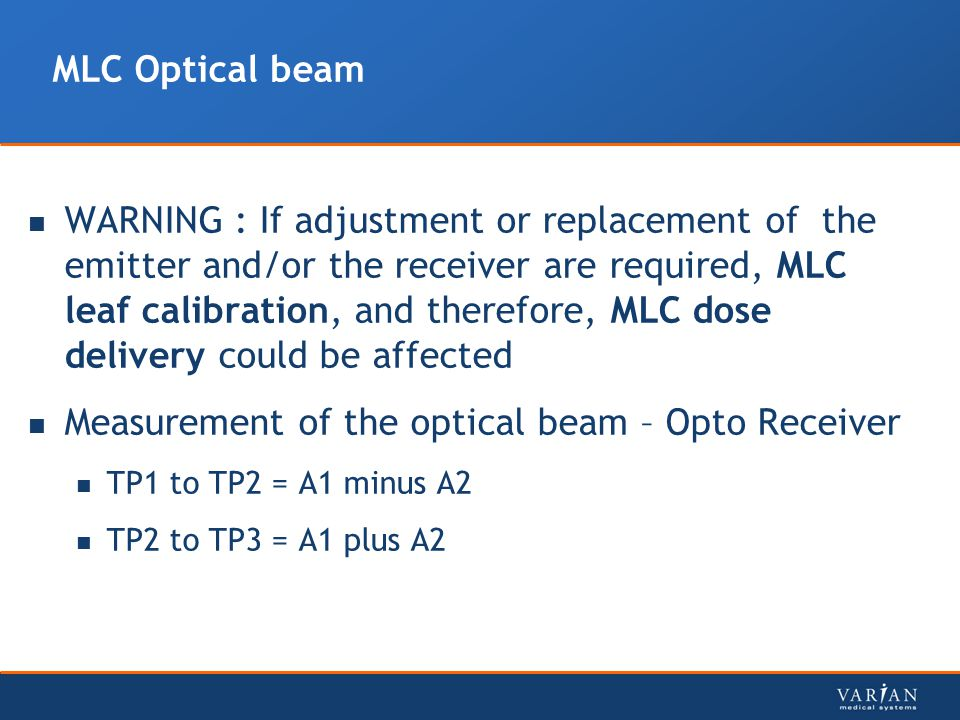 Measurement of the optical beam – Opto Receiver