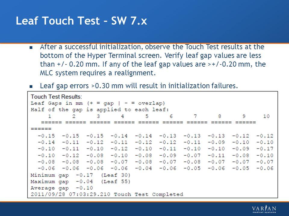 Leaf Touch Test – SW 7.x