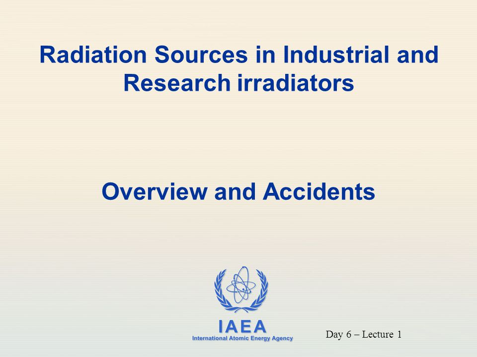 Radiation Sources in Industrial and Research irradiators