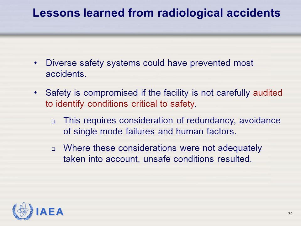Lessons learned from radiological accidents