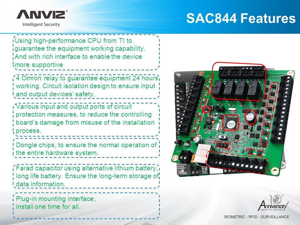 SAC844 Features
