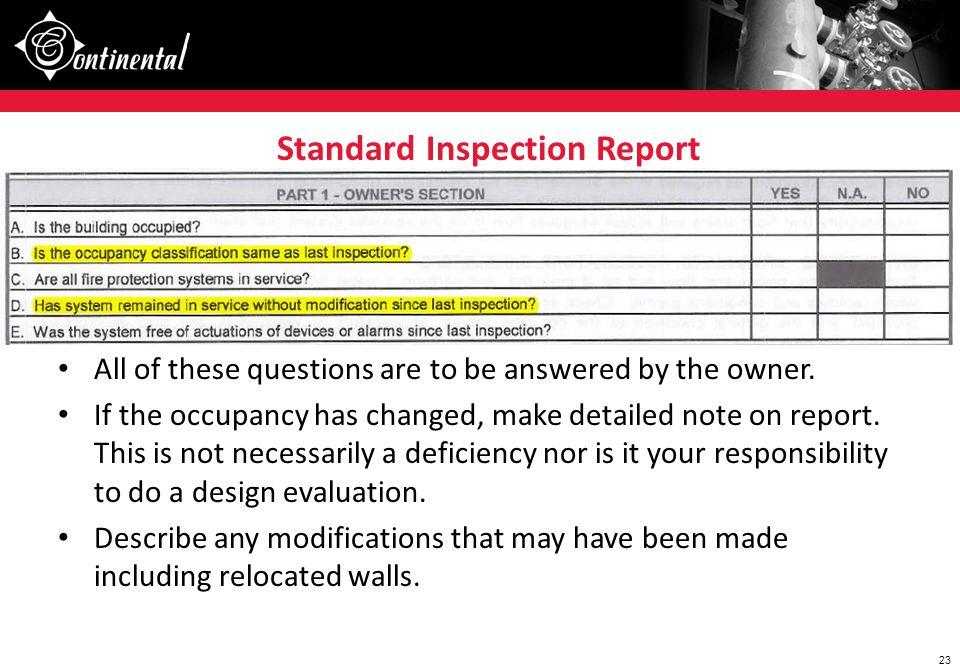 Standard Inspection Report