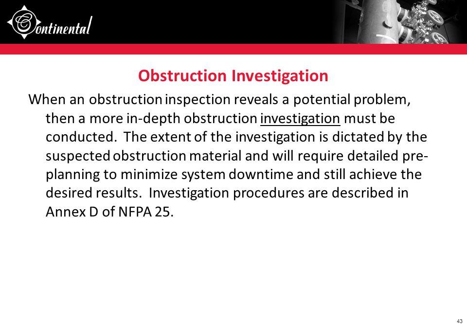 Obstruction Investigation