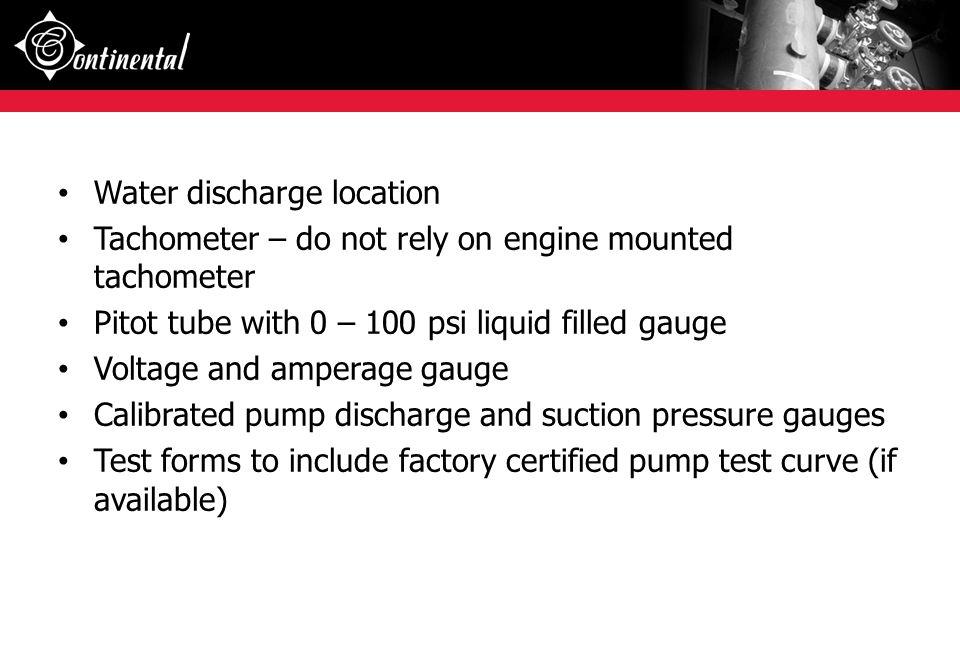 Water discharge location