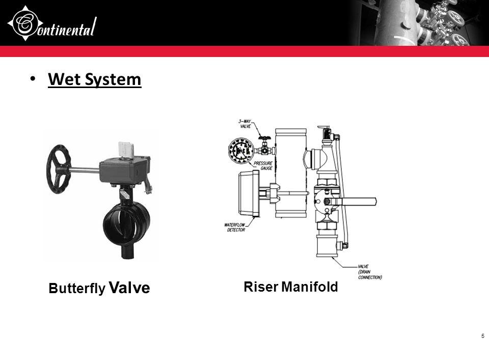 Wet System Butterfly Valve Riser Manifold