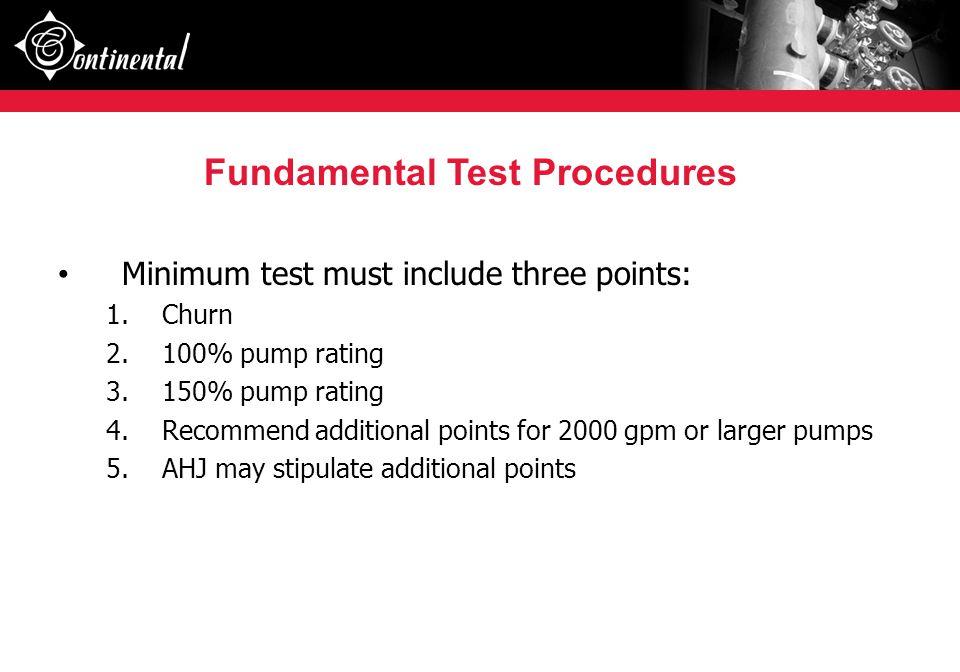 Fundamental Test Procedures