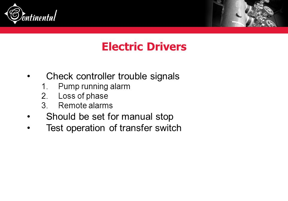 Electric Drivers Check controller trouble signals