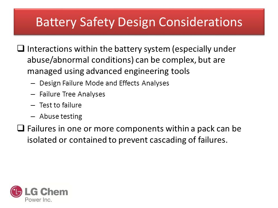 Battery Safety Design Considerations