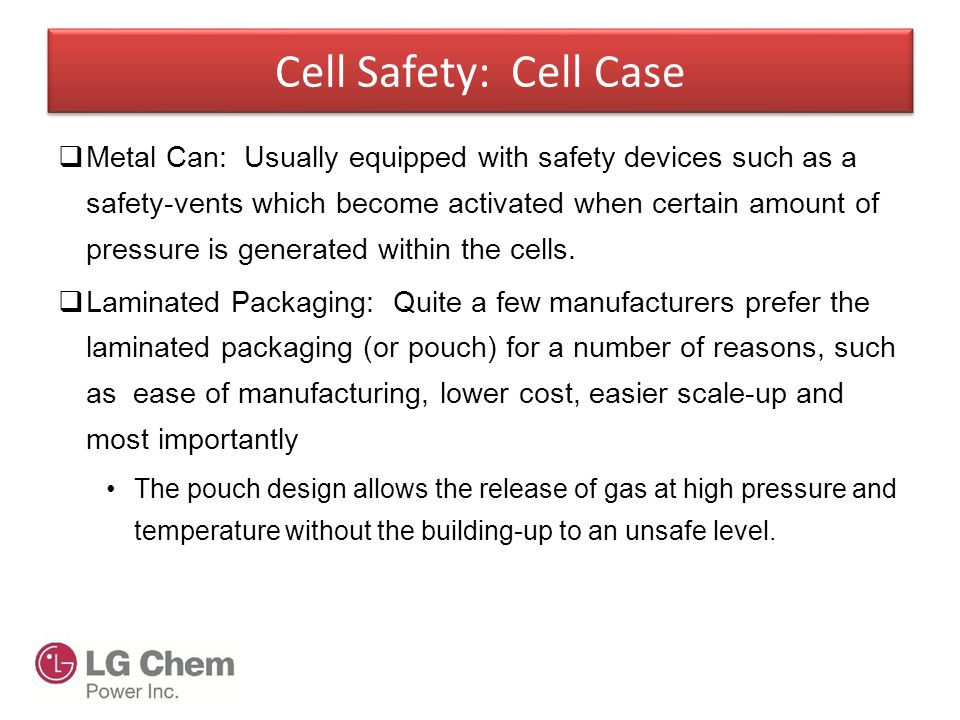 Cell Safety: Cell Case