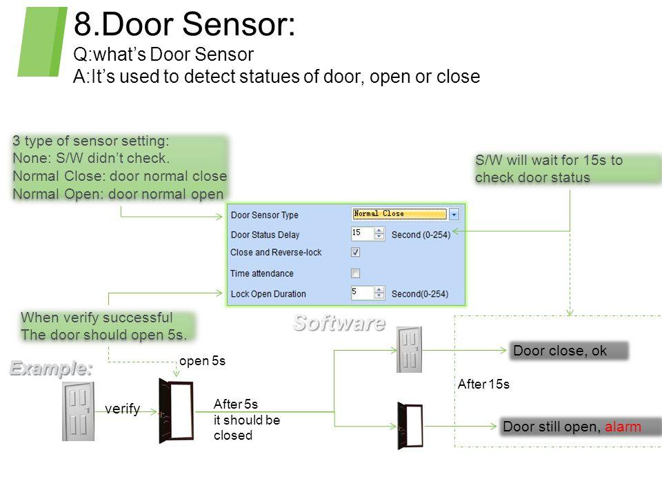 8.Door Sensor: Software Q:what's Door Sensor