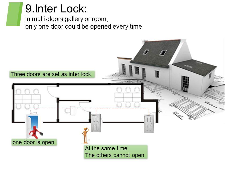 9.Inter Lock: in multi-doors gallery or room,