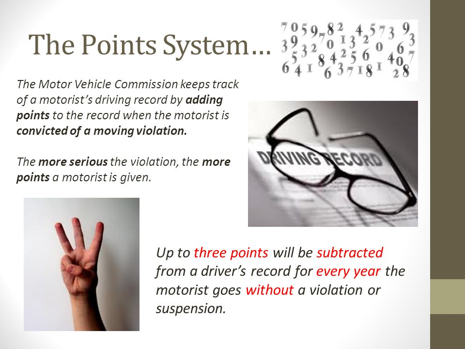 The Points System…