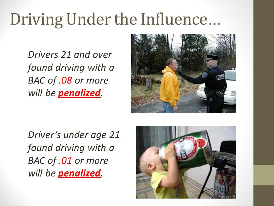 Driving Under the Influence…