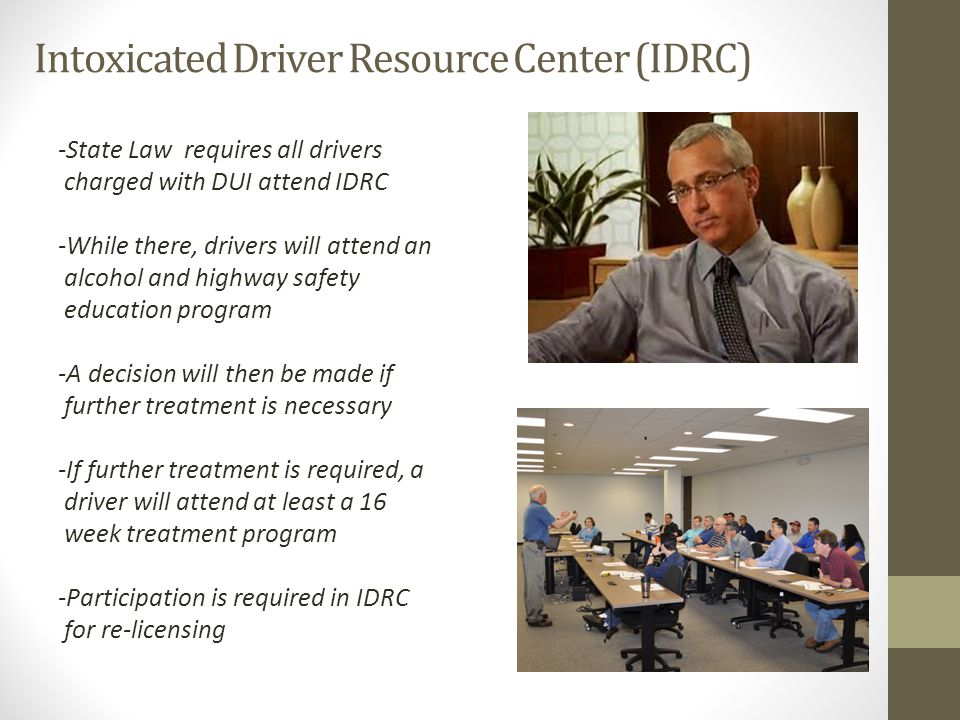 Intoxicated Driver Resource Center (IDRC)