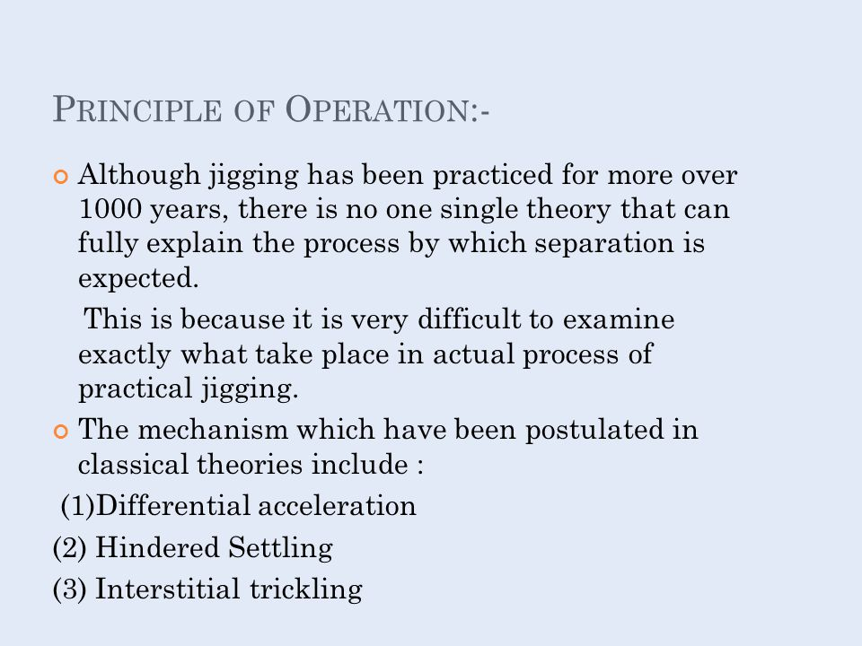Principle of Operation:-