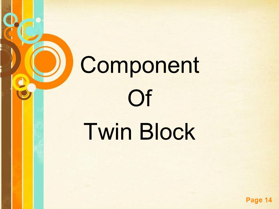Component Of Twin Block