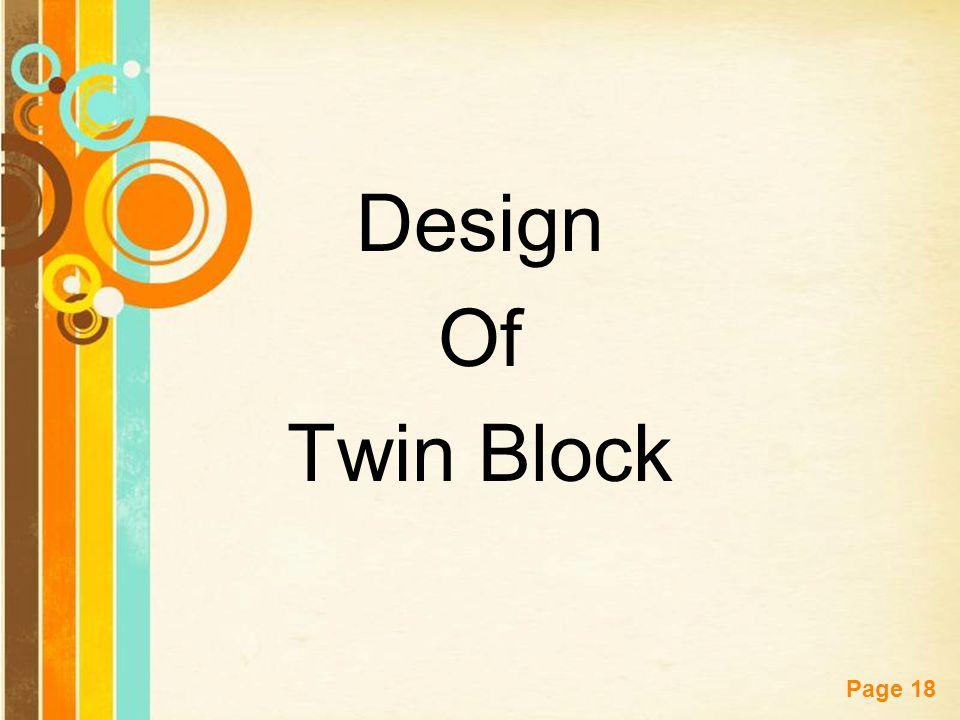 Design Of Twin Block