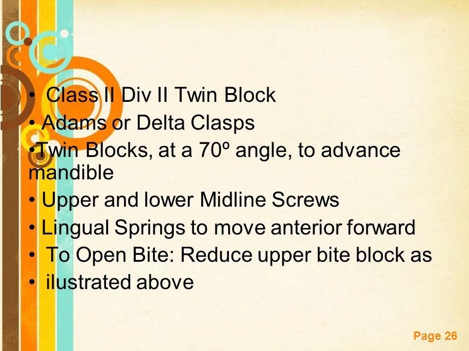 Class II Div II Twin Block