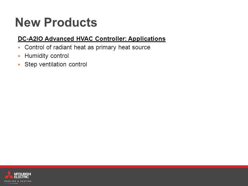 New Products DC-A2IO Advanced HVAC Controller: Applications