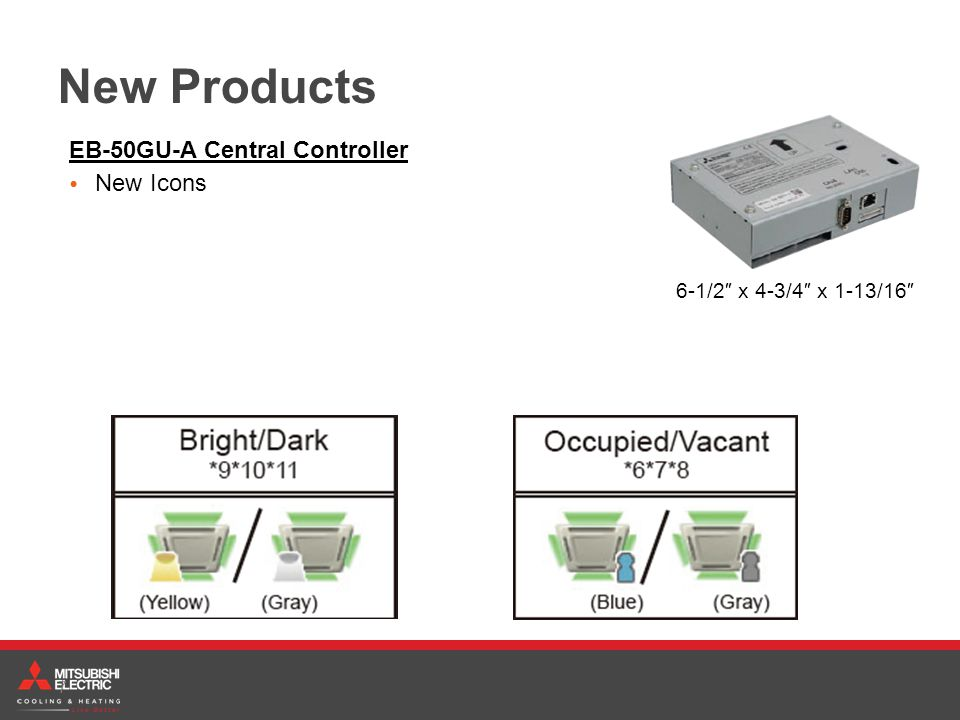 New Products EB-50GU-A Central Controller New Icons