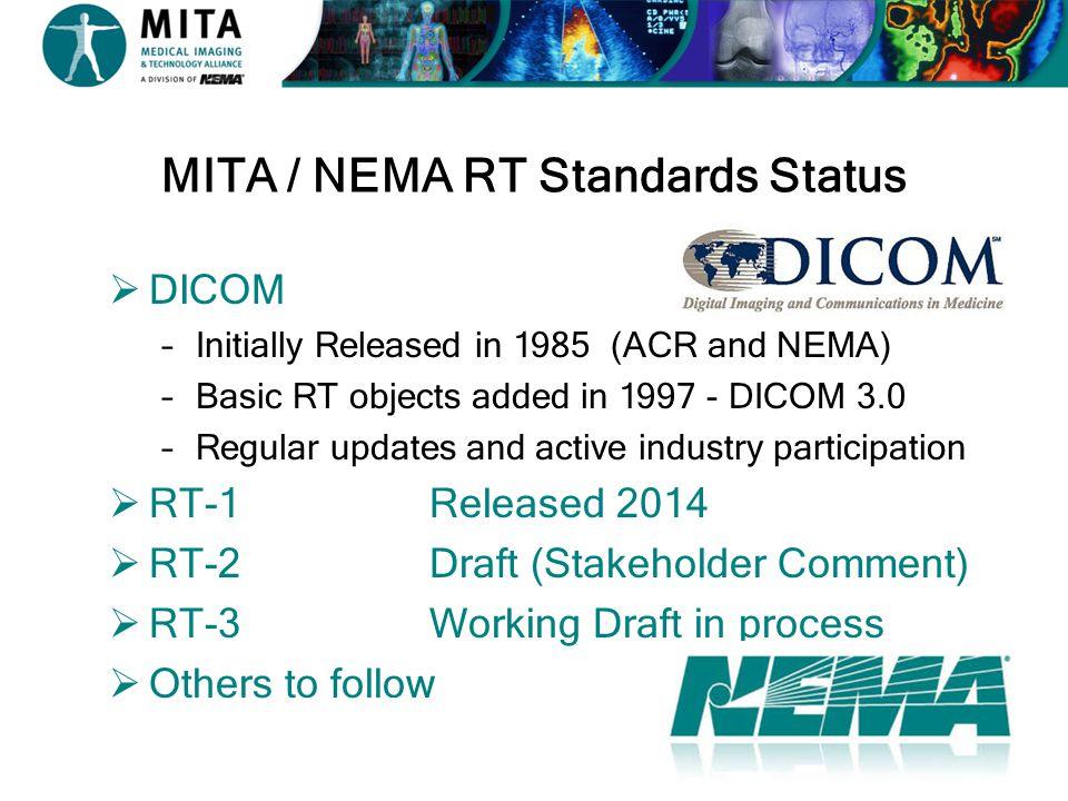 MITA / NEMA RT Standards Status
