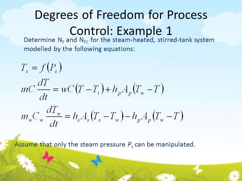 Degrees of Freedom for Process Control: Example 1