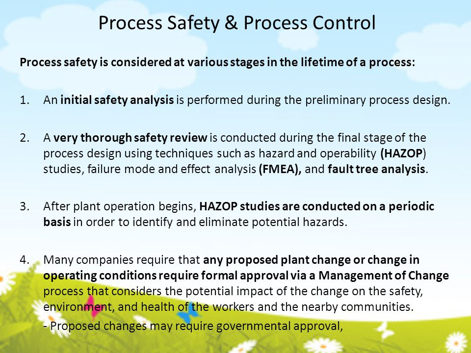 Process Safety & Process Control