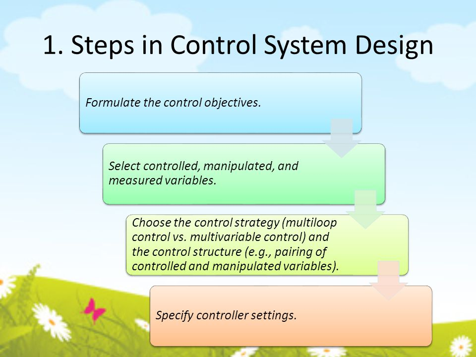 1. Steps in Control System Design