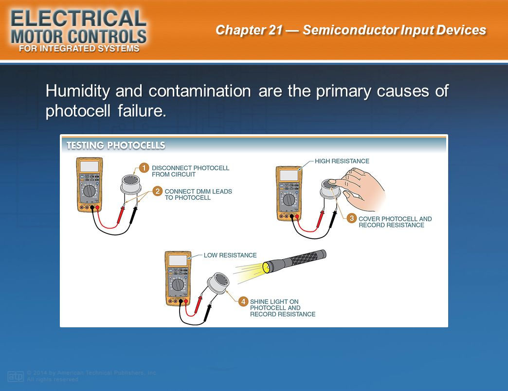Humidity and contamination are the primary causes of photocell failure.