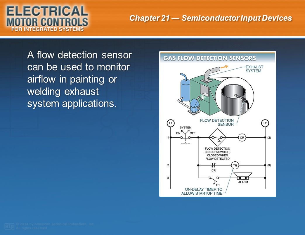 A flow detection sensor can be used to monitor airflow in painting or welding exhaust system applications.