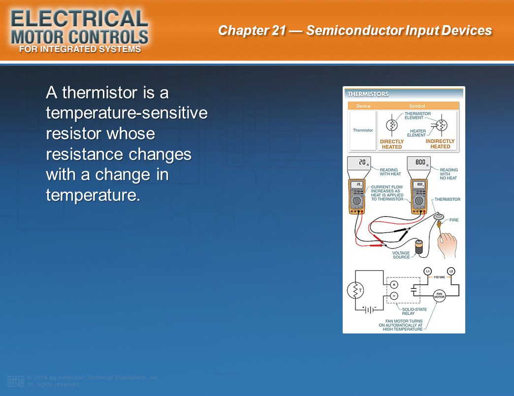 A thermistor is a temperature-sensitive resistor whose resistance changes with a change in temperature.