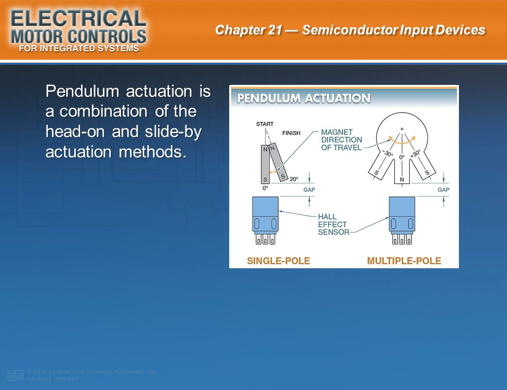 Pendulum actuation is a combination of the head-on and slide-by actuation methods.
