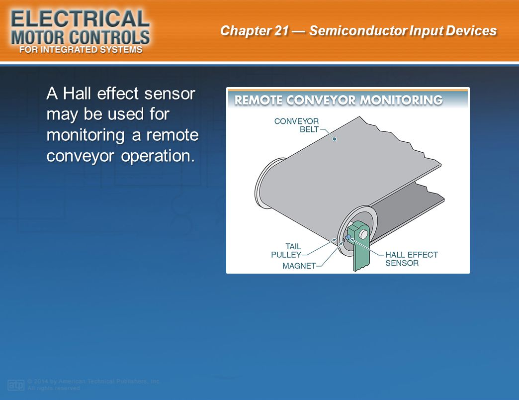 A Hall effect sensor may be used for monitoring a remote conveyor operation.