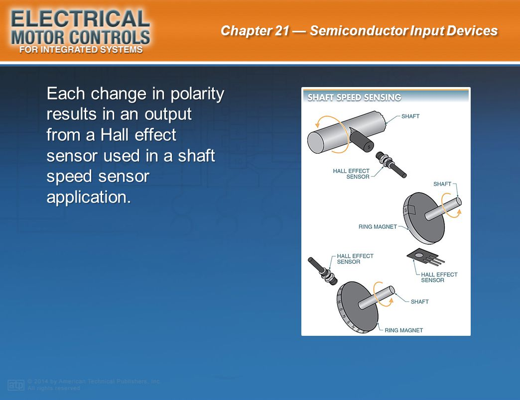 Each change in polarity results in an output from a Hall effect sensor used in a shaft speed sensor application.