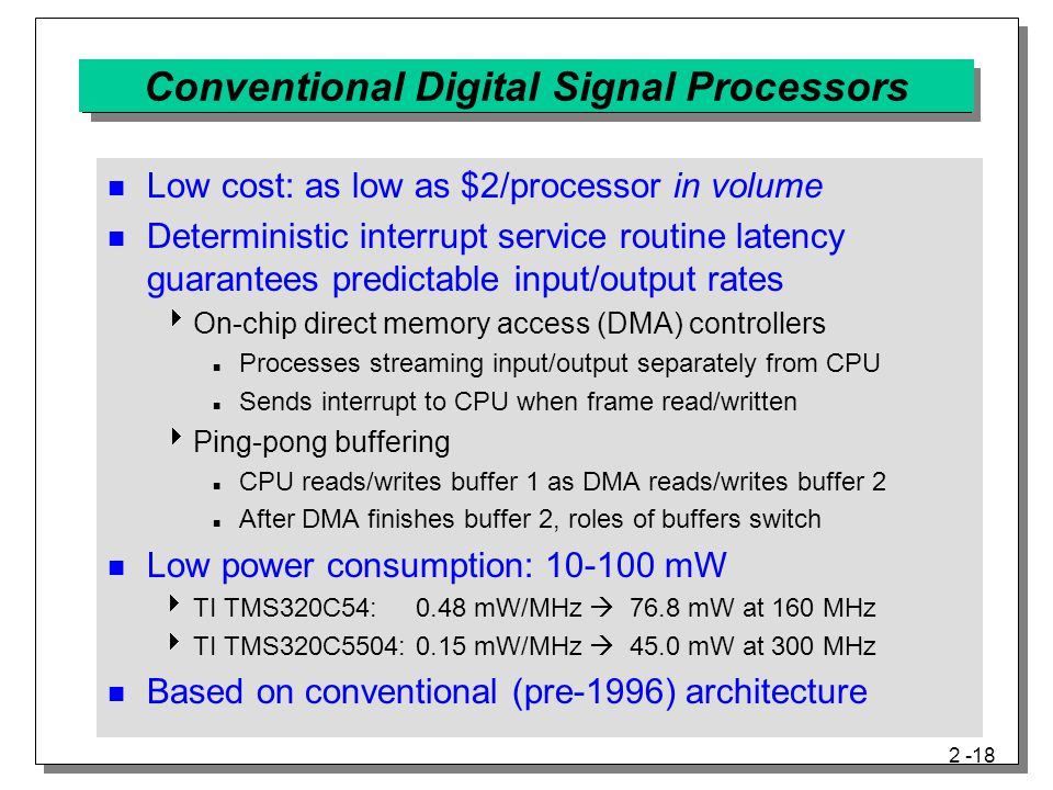 Conventional Digital Signal Processors
