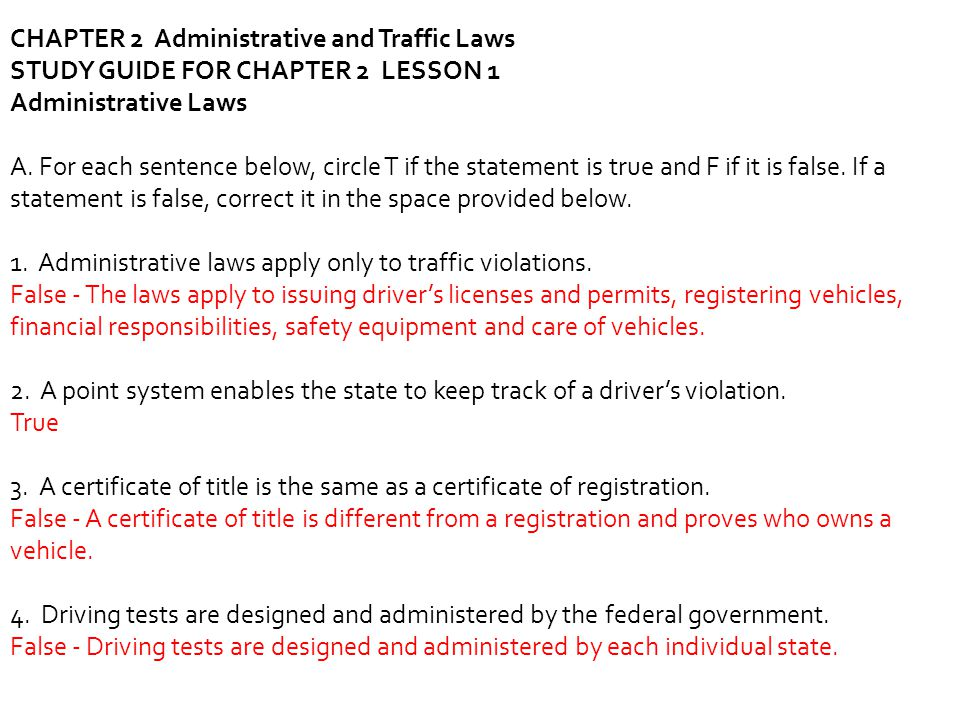 CHAPTER 2 Administrative and Traffic Laws