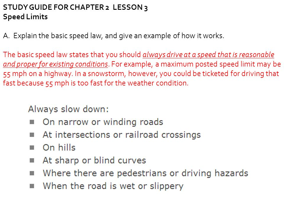STUDY GUIDE FOR CHAPTER 2 LESSON 3