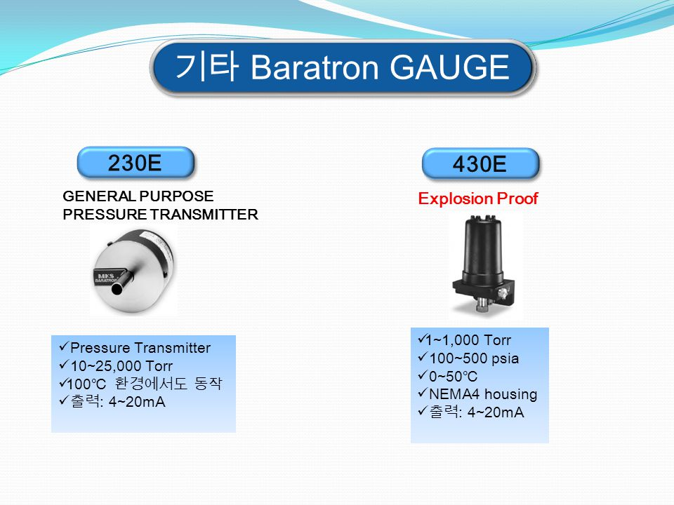 기타 Baratron GAUGE 230E 430E Explosion Proof GENERAL PURPOSE