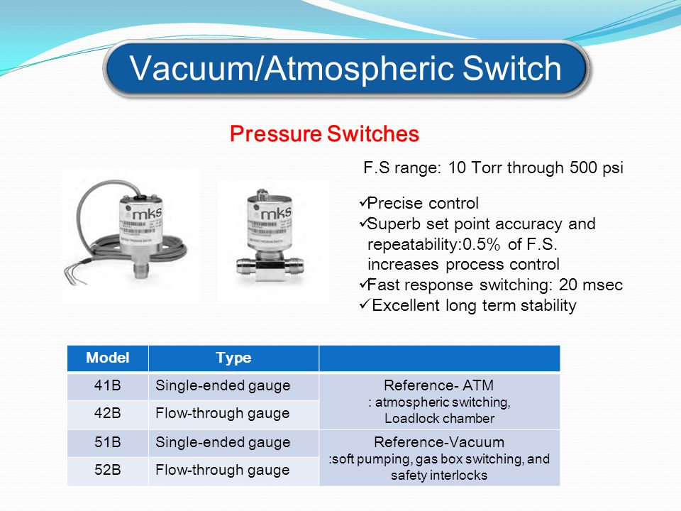 Vacuum/Atmospheric Switch