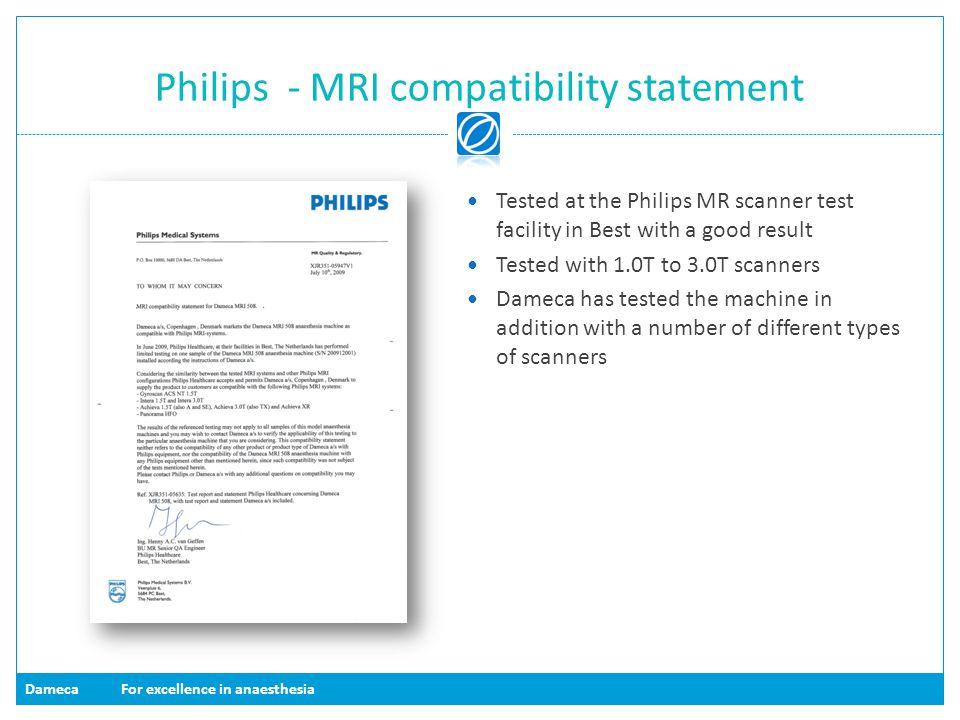 Philips - MRI compatibility statement