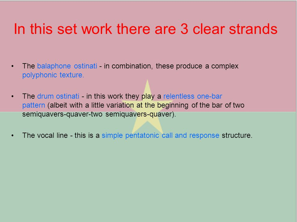 In this set work there are 3 clear strands