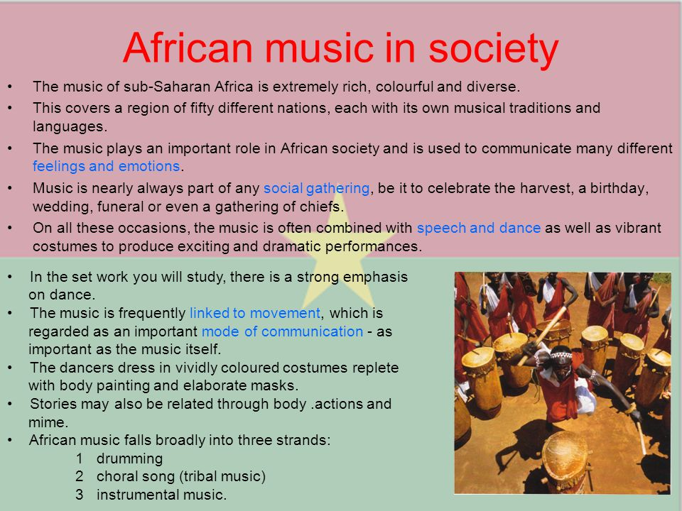 African music in society