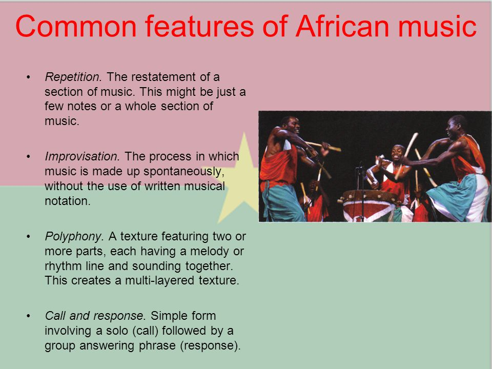 Common features of African music