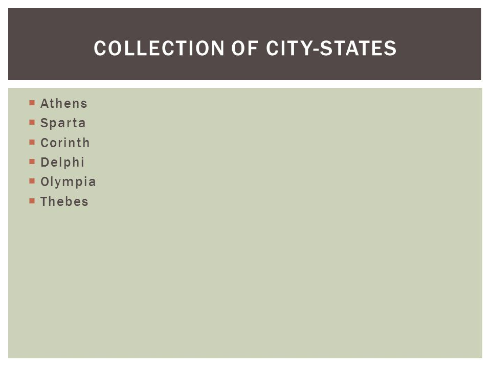 Collection of city-states