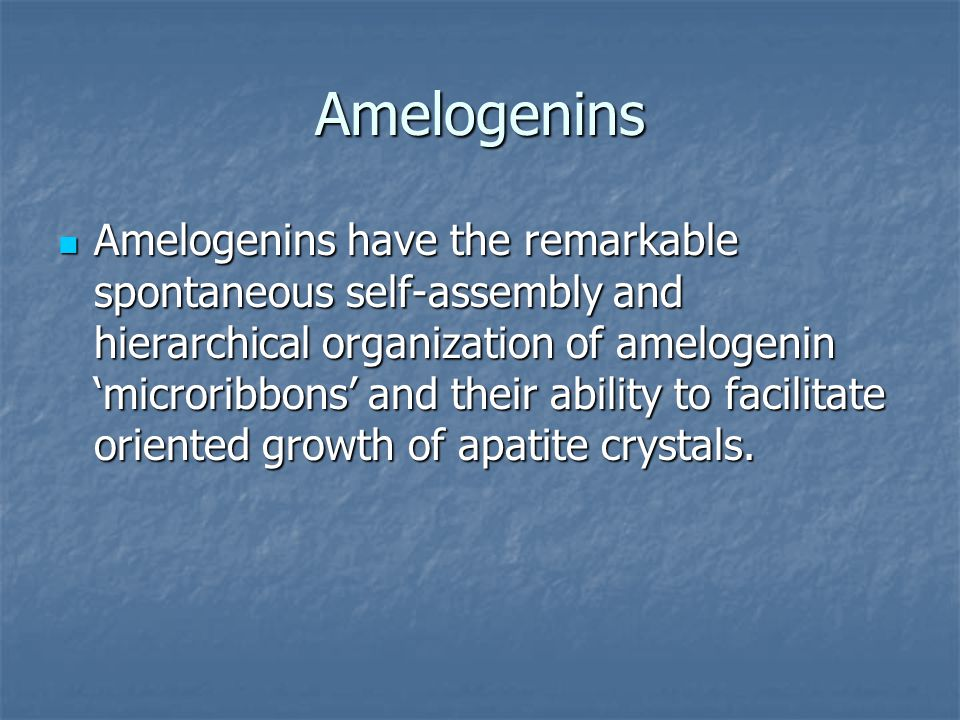 Amelogenins