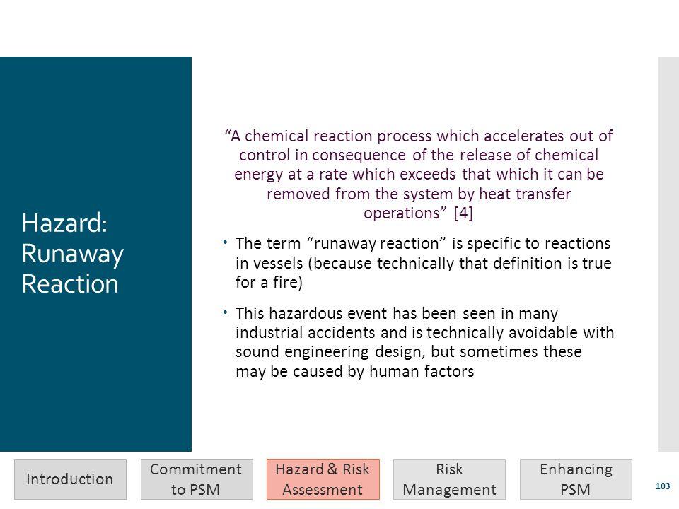 Hazard: Runaway Reaction