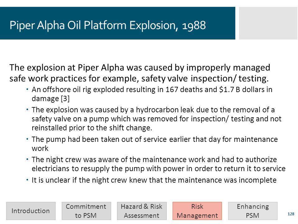 Piper Alpha Oil Platform Explosion, 1988