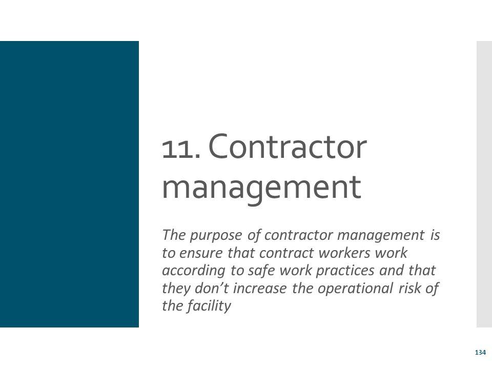 11. Contractor management