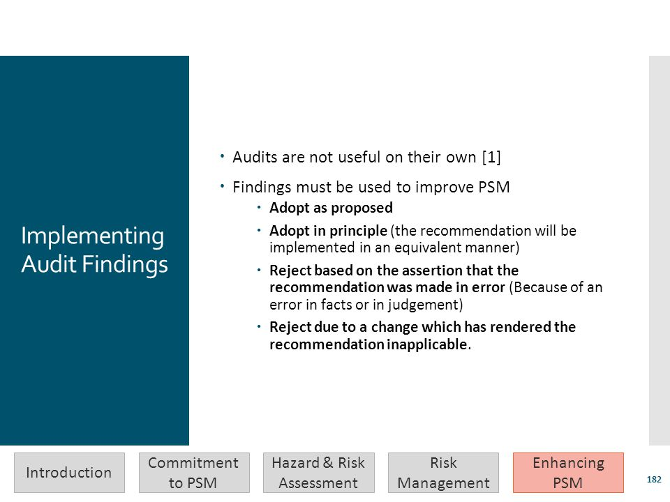 Implementing Audit Findings