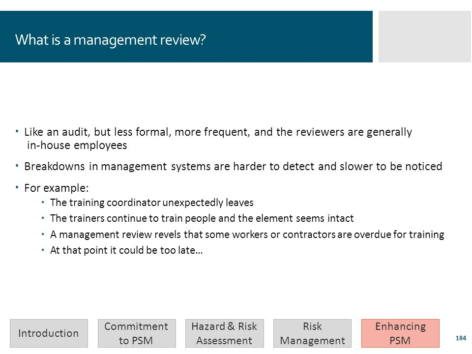 What is a management review